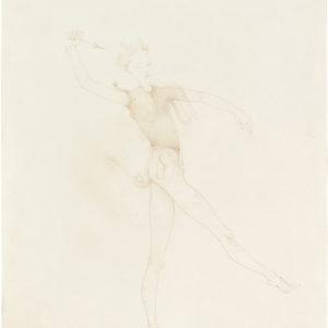 Eros (Cupidon), 2019, Colour pencil on paper, 53,5 x 42,5 cm