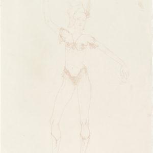 Mercure, 2019, Colour pencil on paper, 53,5 x 38 cm