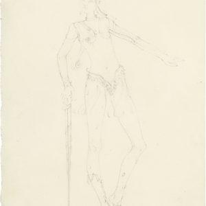 Eneade (Serpentine), 2019, Pencil on paper, 29,5 x 21 cm