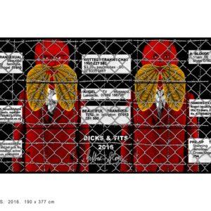 DICKS & TITS, 2016, 190 x 377 cm