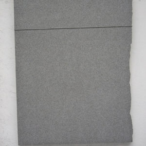 Untitled, 1990, Black Granite from Africa, canvas, cable, slip-knot, 200 x 139 x 6,5 cm
