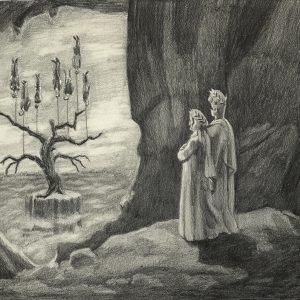 """The Tree of Innocence from Inside the Cave of Guilt #4"", 2008, Pencil on paper, 21 x 31 cm (framed : 32 x 42 cm)"