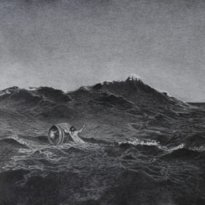 Castaway, 2014, Pencil on paper 82 x 106 cm