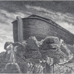 Noah's Ark #1, 2013, Pencil on paper, 39 x 48 cm