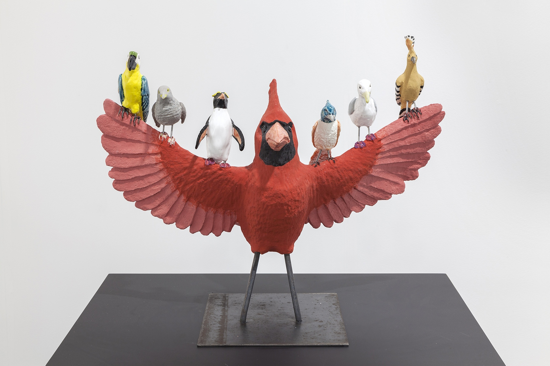 Cardinal, 2017, Ceramic, steel, 50 x 62 x 40 cm