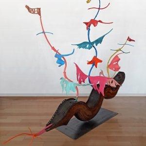 """Ghost ship of Fools"", 2006-2019, Plywood steel, 160 x 200 x 70 cm"