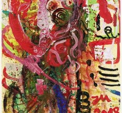 """""""DIESE MISS IST NICHT VON DIESER WELT !"""", 2018, Oil and acrylic on canvas, 210,4 x 140,2 x 3,3 cm"""