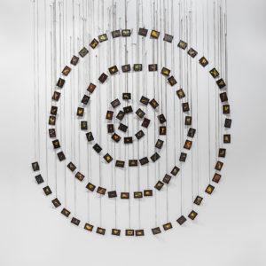"""""""La Spirale Amoureuse"""", 1991, 98 Framed watercolours, 8 x 6 cm each, 264 x 191 cm"""