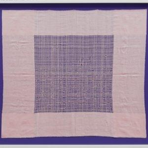 Untitled, 2014, Framed fabric 92 x 112,5 cm