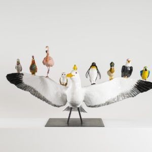 Seagull, 2016, Glazed ceramic 55 x 110 x 45 cm, © Photography Boris Kirpotin, February 2016 Athens, Greece
