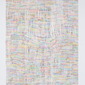Untitled, 2013, Acrylic on glass Unframed:110 x 90 cm Framed: 115 x 100 cm