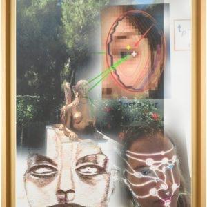 RecogNon, 2015, Pigment print and colour pencil on bond paper Unique Framed: 112 x 88 x 5 cm