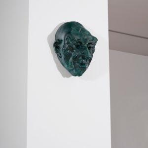 Basler Maske, 2014, Glazed ceramic 36 x 29,5 x 19 cm