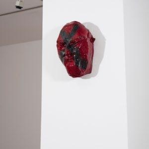 Basler Maske, 2014, Glazed ceramic 36,5 x 25 x 18 cm