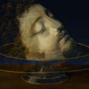 "Lady Gaga: The Head of Saint John the Baptist (Triangulum), 2013, High Definition Video, 20"" LCD Monitor/digital player/speaker Ed. of 2 AP 2"