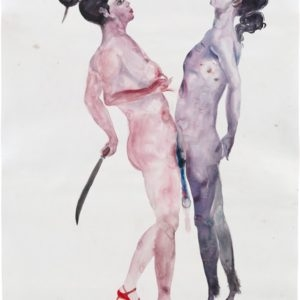 Expanded Dream #3, 2012, Watercolour on paper Unique 200 x 100 cm