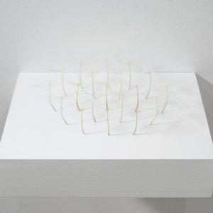 Kleine Ansammlung (Little Agglomeration), 2014, Airborne seeds 6 x 24 x 21 cm On pedestal: 7 x 30 x 24 cm