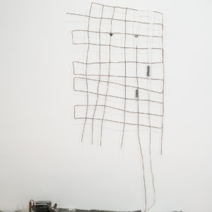 Untitled, 1989, Copper, lead, structure refrigerant 260 x 164 x 65 cm