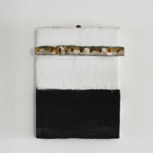 Untitled, 2011, Salt, ink and iron on wood 40 x 30 x 3,5 cm