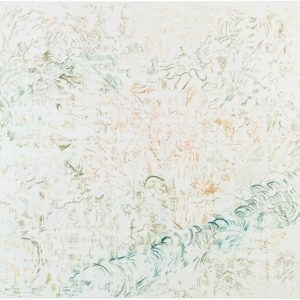 """""""Soothing Sound"""", 2013, Acrylic and watercolour on canvas 150 x 170 cm"""