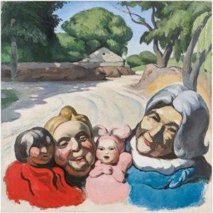"""""""Harmonious Smiles No 2"""", 2014, Oil on canvas 120 x 120 cm"""
