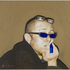 """ZHANG HUI, """"Portrait"""", 2014 Acrylic on canvas 80 x 120 cm"""
