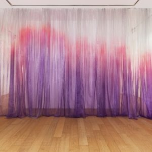 """Untitled"", 2014, Painted organza silk 350 x 600 cm"