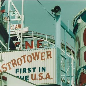 Coney Island (Astrotower), 1997, Chromogenic print Unique photo 29,5 x 41,5 cm (framed)