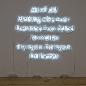 """All of Old"", 2014, Neon lamps 200 x 180 cm"
