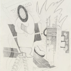 4th Street and Avenue B, (I) 1990, Graphite on paper 68 x 55 cm