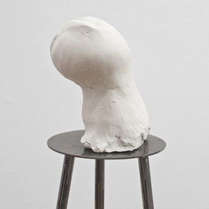 Untitled, 1980's-1990's, white raw clay 28 x 20 x 12 cm