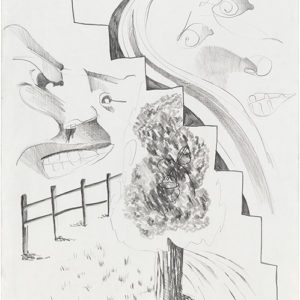 4th Street and Avenue B, (III) 1990, Graphite on paper 66,5 x 53 cm