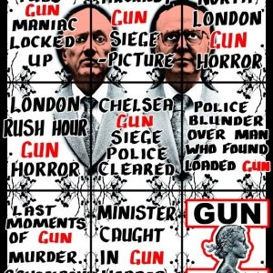 Gun, 2011, 226 x 190 cm