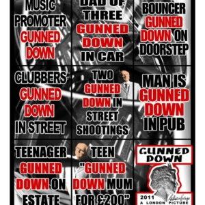 Gunned Down, 2011, 226 x 190 cm