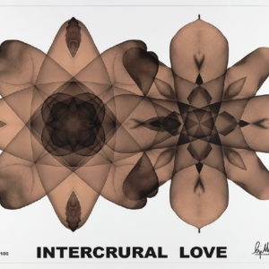 """Intercrural Love"", 2009, Lithograph on paper 63 x 88 cm ed. of 100"