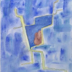 Paraside Child, 2013, Tempera on paper, 61 x 45,5 cm