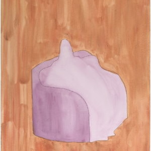 Sitting Picture, 2013, Tempera on paper, 61 x 45,5 cm