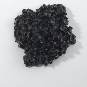"""Compression Fracture Painting XVI"", 2013-2014, Glazed ceramic 33,5 x 32,5 x 12 cm"