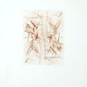 """Siamese Gorath"", 2001, Etching ed. 7/15 65 x 49 cm"