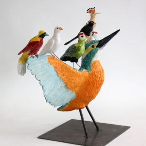Kingfisher, 2016, Ceramic, steel 52 x 72 x 35 cm