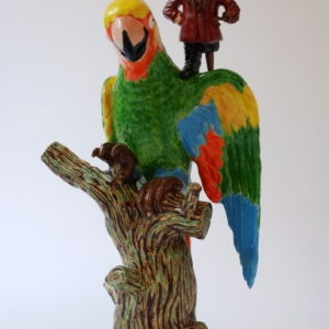 Pirrot the Mighty, 2008, Ceramic, wood 55 x 34 x 33 cm