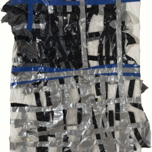 """""""Home and Away"""", 2009, Tape, cloth, plastic, Indian ink 191,5 x 130 cm"""