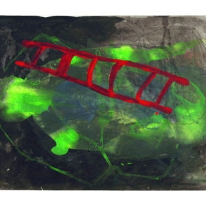Untitled, 2002, Mixed media on paper approx.30 x 50 cm