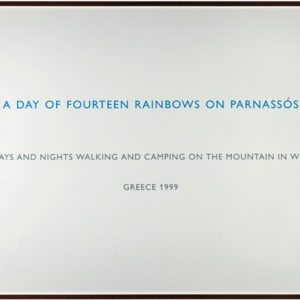 A Day of Fourteen Rainbows on Parnassos, 1999, Text on paper  106 x 158 cm