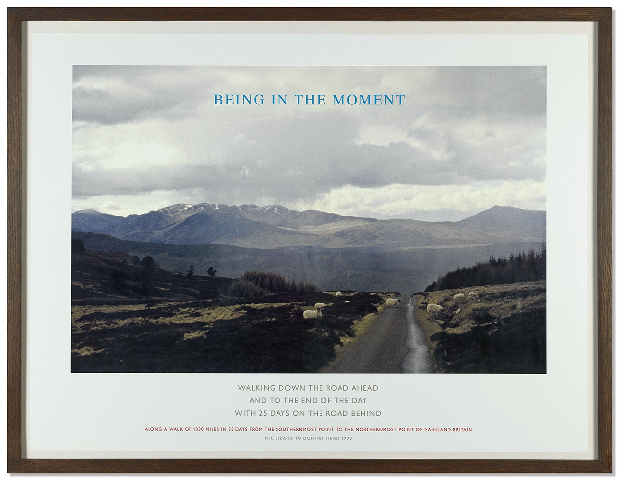 """Being in the Moment"", 1999, Birch-wooden box with 4 prints ed. 26/60 60 x 80 cm each"