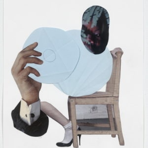 """Ariel (black eye)"", 2012-2013, Collage on paper 36,5 x 28,5 cm (framed)"