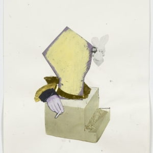"""Ariel (cigarette)"", 2012-2013, Collage on paper 36,5 x 28,5 cm (framed)"