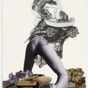 """Ariel (collant)"", 2012-2013, Collage on paper 36,5 x 28,5 cm (framed)"