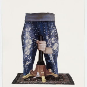 """Ariel (pants)"", 2012-2013, Collage on paper 36,5 x 28,5 cm (framed)"