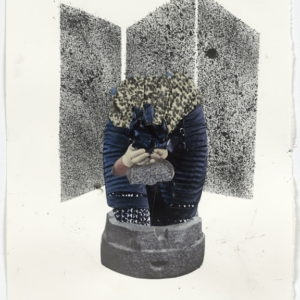 """Ariel (screen)"", 2012-2013, Collage on paper 36,5 x 28,5 cm (framed)"